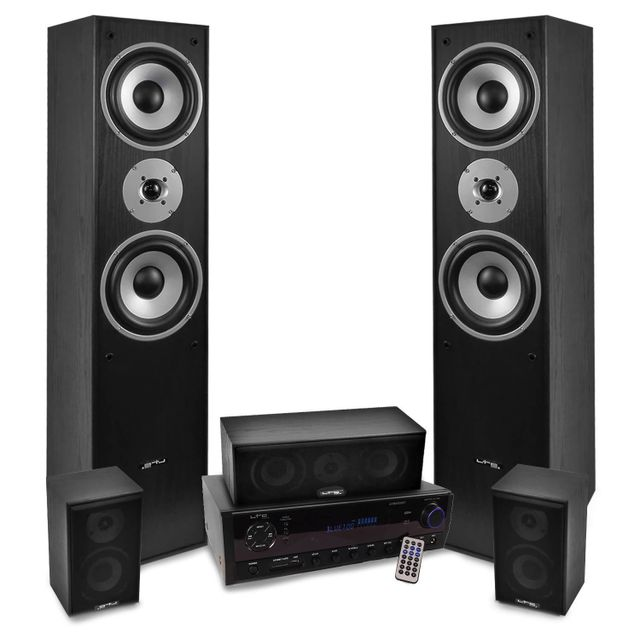 Ltc Home-Cinema 5 enceintes 850W E1004BK, Ampli 2x50W + 3x20W Atm6500BT