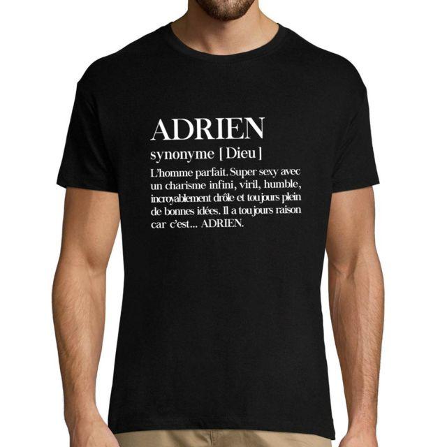 CLOSSET Adrien | Définition Objective | T-shirt Homme col Rond Personnalisé Prénom Humour L
