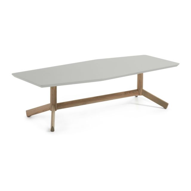 Kavehome Table basse Tropid, chene et gris