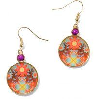 Desigual Bijoux - Boucles d'oreilles Kaitlin 72G9ED5-3001 - Boucles d'oreilles Cercles Oranges Femme