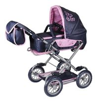 Knorr - Puppenwagen Puppenkombi Salsa - Denim Pink Butterfly