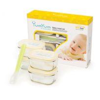 Glasslock - Set de 4 boites hermétiques pour bébés avec couvercles hermétiques - Micro-ondes