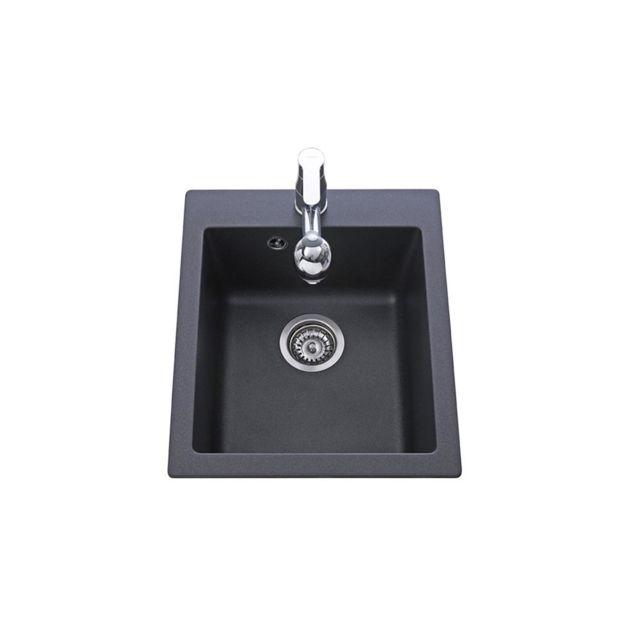 aquasanita vier granit noir simplis 1 bac pas cher achat vente evier rueducommerce. Black Bedroom Furniture Sets. Home Design Ideas