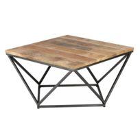 grand choix de fc37a d1664 Table basse carrée Métal/Bois - Knox