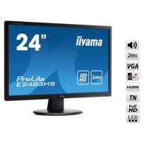 IIYAMA - Ecran 24'' Full HD VGA / DVI / HDMI 2ms HP - E2483HS-B1