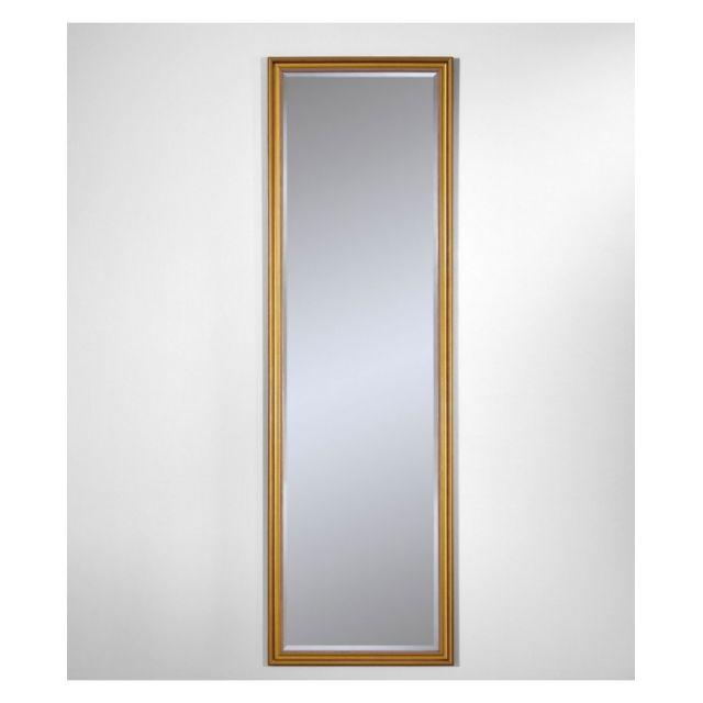 Deknudt Mirrors Miroir Ankara Gold Hall Traditionnel Classique Rectangulaire Dorée 42x138 cm