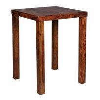 table bar bois - achat table bar bois pas cher - rue du commerce