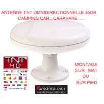 Antarion - Antenne Tnt 35DB camping-car Omnidirectionnelle , caravane