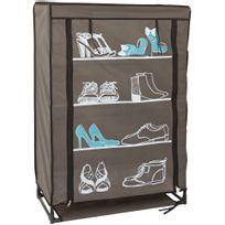 armoire chaussures 50 paires achat armoire chaussures 50 paires pas cher soldes rueducommerce. Black Bedroom Furniture Sets. Home Design Ideas