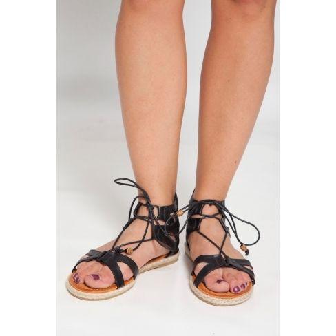 Princesse Boutique - Sandales noire à lacets