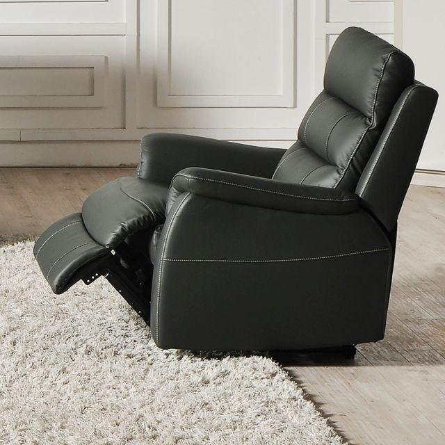 Kasalinea Fauteuil de relaxation électrique anthracite en cuir Simon 2