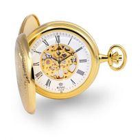 Royal London - Montre gousset dorée mécanique so vintage pour homme - 90005-02