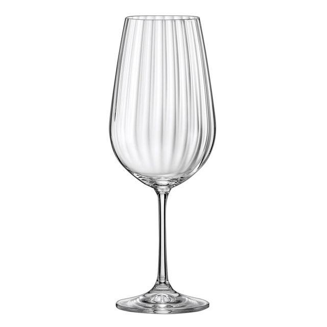 Alinéa Waterfall Lot de 6 verres à vin en cristallin