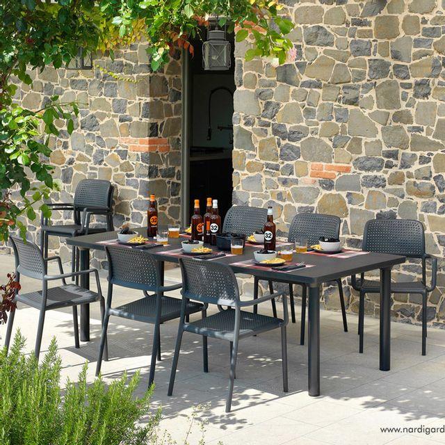 Nardi - Salon de jardin 8 places perforé: table ...