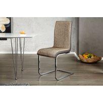CHLOE DESIGN - Chaises design Metropoli - Par 2 - beige