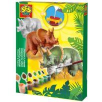 Ses Creative - Kit de moulage en plâtre : Tricératops