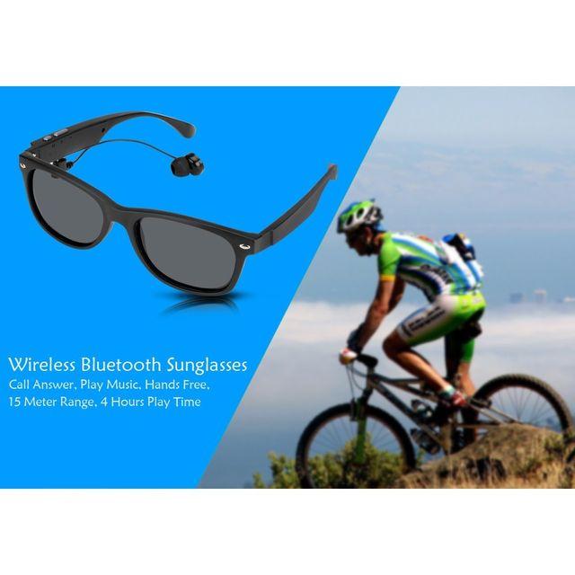 Auto-hightech Lunettes de soleil Bluetooth Réponse appels contrôles musique mains libres