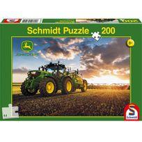 Schmidt - Puzzle 200 pièces : John Deere : Tracteur 6150R avec tonne à lisier