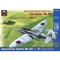 Ark Models - 1:72 - Supermarine Spitfire Mk.XIV Vs V1 Flying Bomb - Ark72012