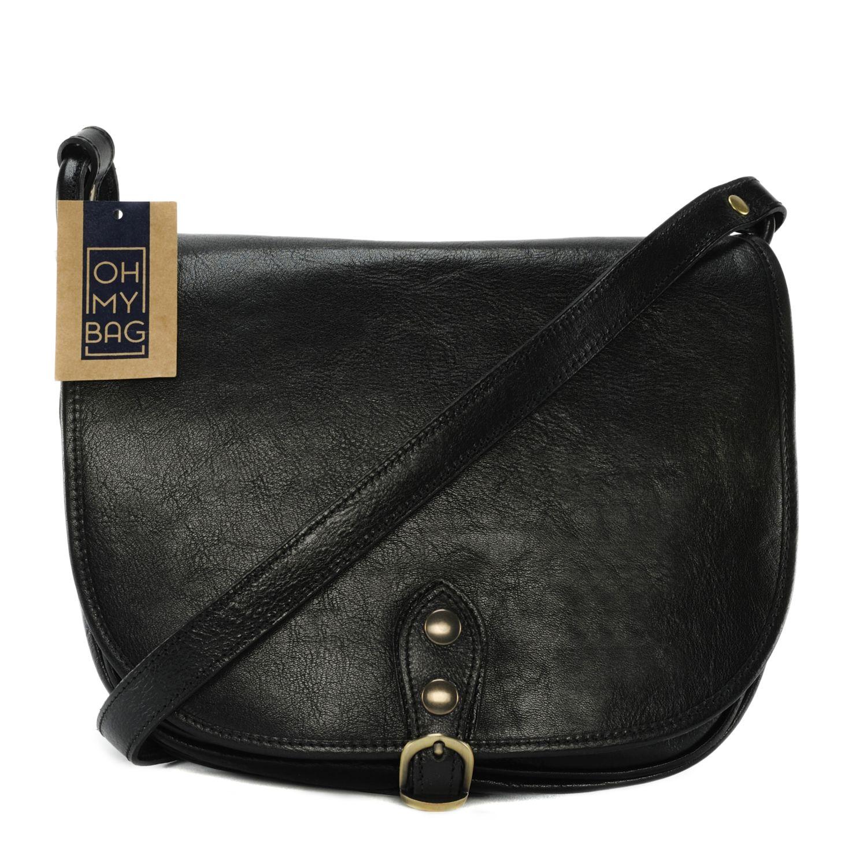 fb53c7ae27 OH MY BAG- Sac à main femme cuir souple - Modèle Verlaine noir
