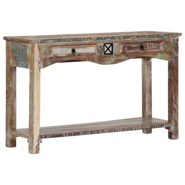 Consoles famille Nuku?alofa Table console 120x40x75 cm Bois solide de  récupération
