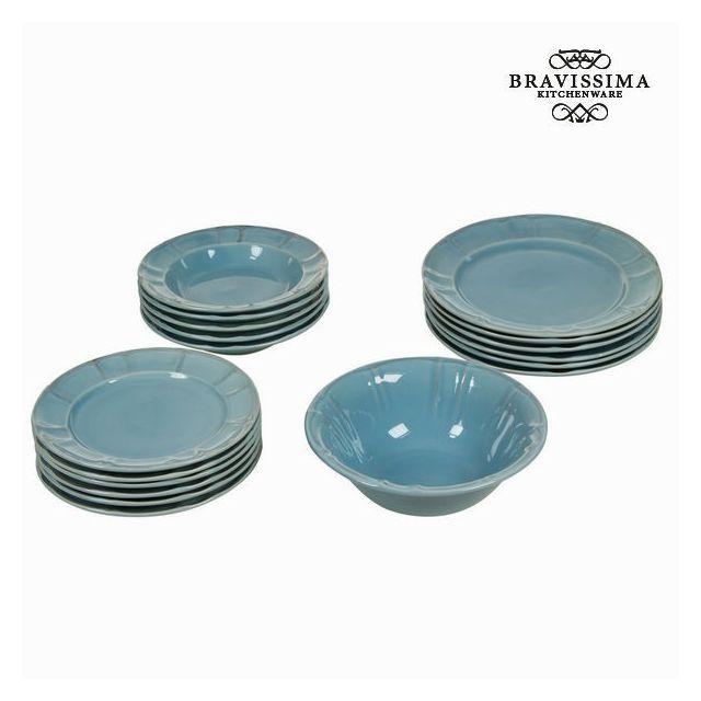 marque generique 19 articles de service vaisselle motifs et couleur assortis adapt au. Black Bedroom Furniture Sets. Home Design Ideas