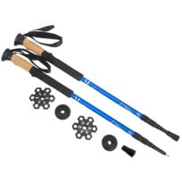 Alpes Vertigo - Bâtons de marche vendus à la paire Trek stik 3b blue lapaire Gris 70304