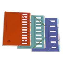 Extendos - Mon Dossier - Trieur en carte forte vernie 9 compartiments - Rouge