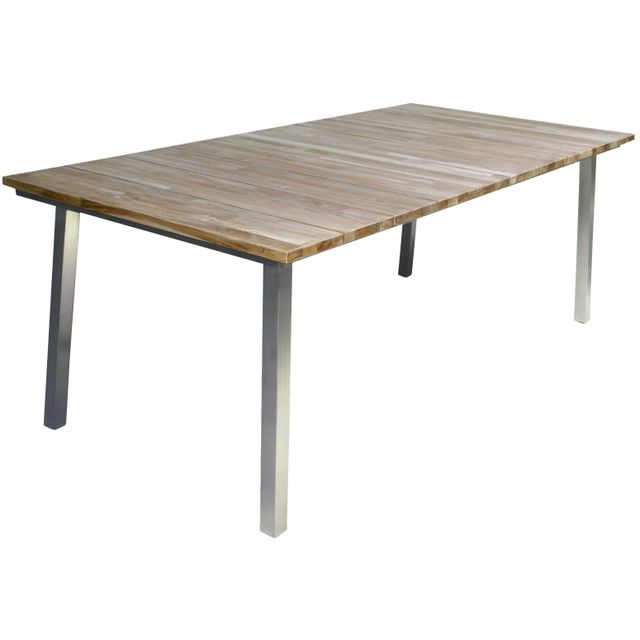 Comforium Table de jardin extensible 210-280 cm en teck