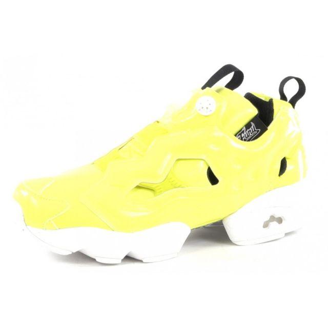 à prix réduits attrayant basket reebok jaune fluo fcf91