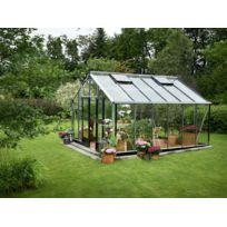 Habitat et Jardin - Serre verre Gardener - Aluminium - 16,2 m² - 4,39 x 3,68 x 2,87 m