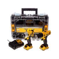 Dewalt - Pack 2 machines 10.8V 2Ah: perceuse visseuse Dcd710 + Visseuse à Choc Dcf815 Dck211D2T