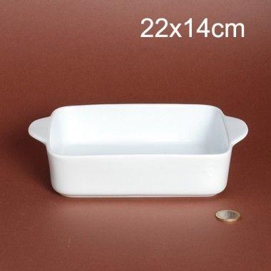 Porcelaine Blanche Plat à lasagnes