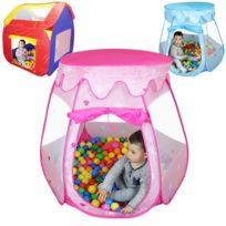 MONSIEUR BEBE - Tente de jeu enfants pliable + 200 balles et sac rangement