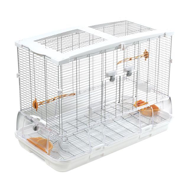 7b6b011a705fe9 Divers - Cage Vision L01 Blanc Orange - pas cher Achat   Vente Cage ...