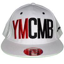 Ymcmb - Casquette Snapback - Taille Réglable - Blanc Rouge Noir