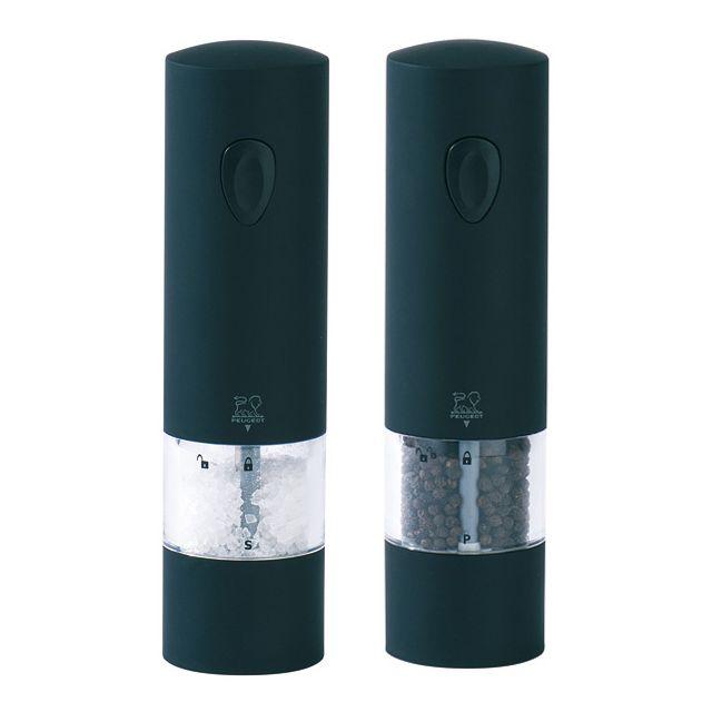PEUGEOT ensemble moulin électrique sel et poivre 20cm noir - 24581 + 24598