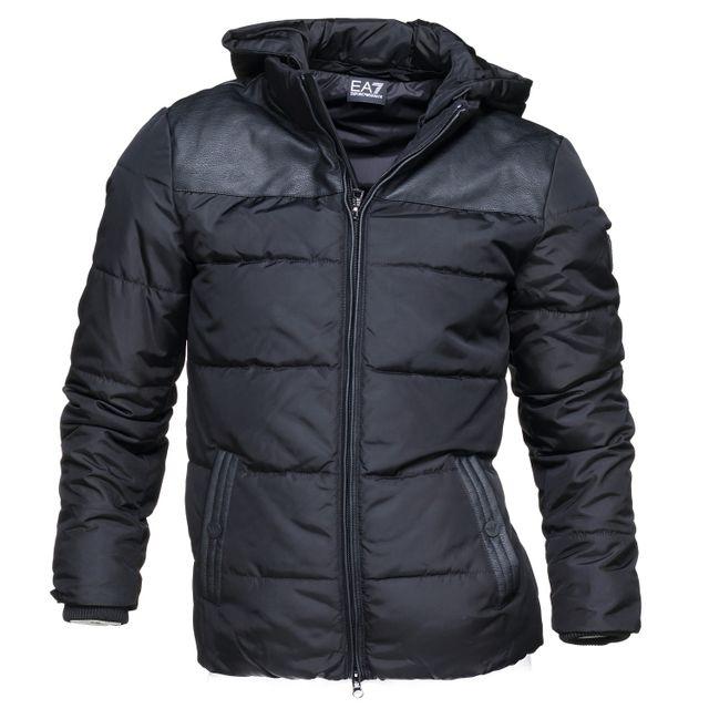 Armani - Blouson Ea7 Emporio 6ypb19 - Pn02z 1200 Noir - pas cher Achat    Vente Blouson homme - RueDuCommerce bf0de3af65f