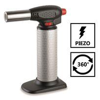 Kemper - Chalumeau de cuisine piezo professionnel micro torche gaz rechargeable - toutes positions 360