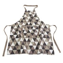 Ziczac - Tablier adulte 100% coton motif scandinave Shape - Taupe