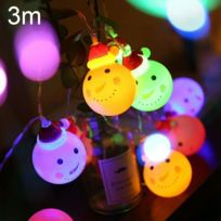 Led Chaleureuse Lampe Fée NoëlFêteChambre De Lumière Décorative Pour Neige Usb Lumineuse20 Vacances 3m Leds Bonhomme Prise Guirlande dCoBex