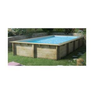 Procopi piscine weva rectangulaire 6 54m x 3 54m x 1 33m for Piscine bois procopi