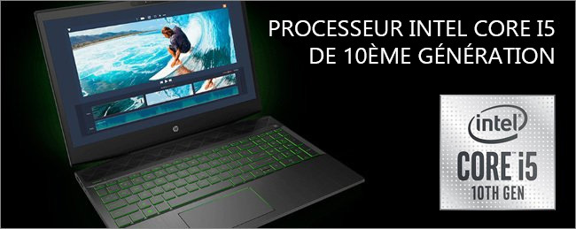 HP Gaming Pavilion 17 - Intel Core i5 10th