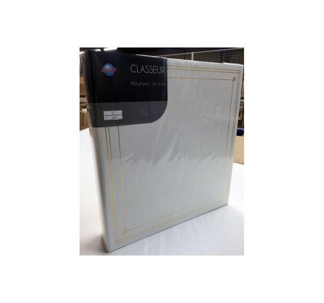 Ariane - Album photo Classeur blanc Classiques 400 photos 10x15 cm pochettes P.P