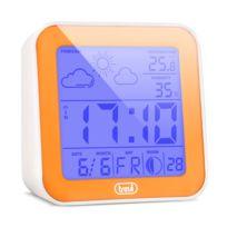 Trevi - Me-3105 Réveil station météo baromètre phase lunaire orange