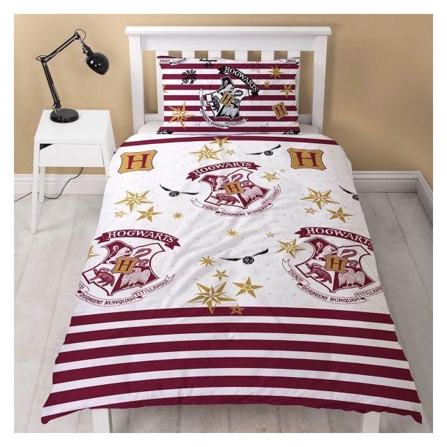 Harry potter school parure de lit enfant housse de couette multicolore nc pas cher - Parure de lit harry potter ...