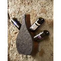 It'S Stone - Support mural en pierre et en bois pour 4 bouteilles - Aci-its250