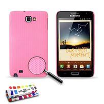 """Muzzano - Coque Rigide Ultra-Slim """"Le Pika"""" Premium Rose pour Samsung Galaxy N7000"""