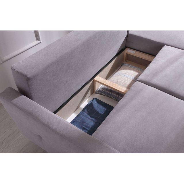 Bobochic - Copenhagen - canapé d angle réversible convertible avec coffre de rangement 230x153x90cm 230cm x 90cm x 153cm