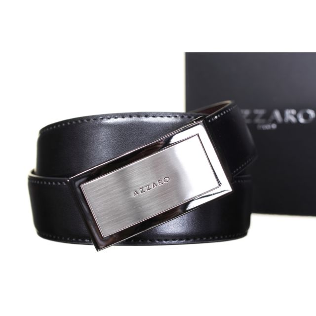 7a097b7eb1b0 Azzaro - 21165 Reversible Noir Marron - pas cher Achat   Vente Ceinture  homme - RueDuCommerce